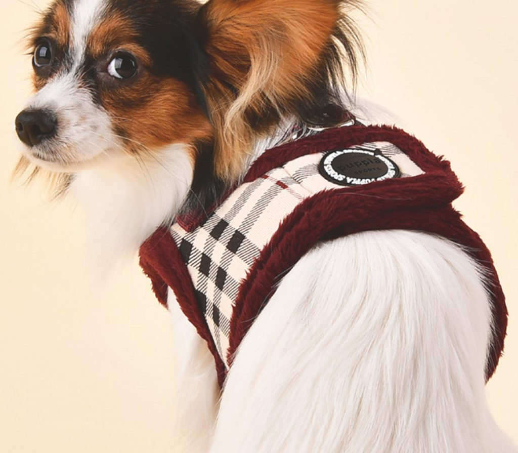 puppia DEAN HARNESS ワイン